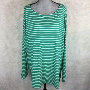 Ava & Viv Long Sleeve Striped Tunic Top Plus Size